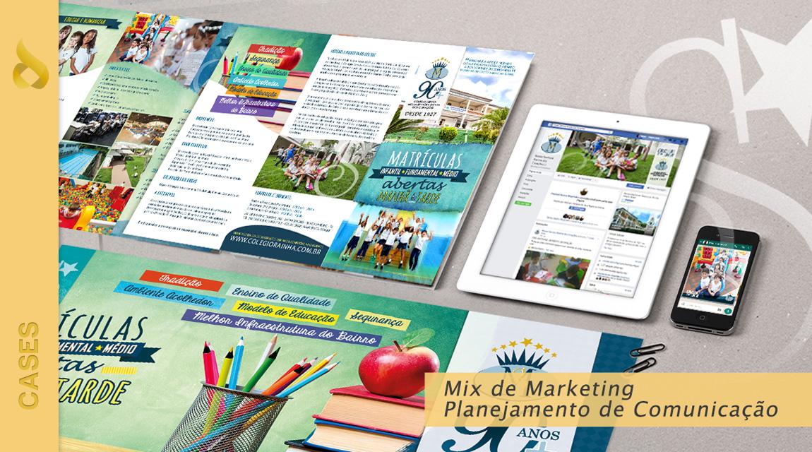 c6016ef5b Agência desenvolve Mix de marketing para o Colégio Servita N. Sra Rainha  dos Corações